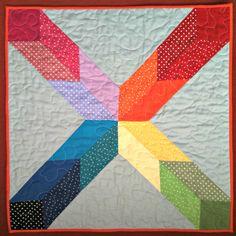 A 3d effect mini quilt