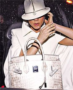 The Himalayan croc Hermes Birkin bag with diamond hardware
