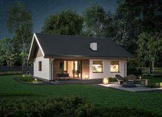 Zdjęcie projektu Murator C333j Miarodajny - wariant X WAJ3747 Simple House Design, Home Design Plans, Design Case, Home Fashion, House Plans, Shed, Backyard, Outdoor Structures, Cabin