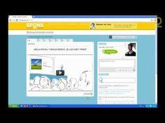 Spons: een online applicatie waarbij leerkrachten in eigen tempo en op eigen niveau kunnen oefenen om hun ICT vaardigheden te oefenen.