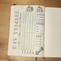 New Year ~ New Beginnings ~ New Bullet Journal Inspiration~  Fitness Tracker