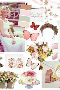 Blush butterflies  -  recreate our beautiful butterfly collection inbuilt chosen colours.