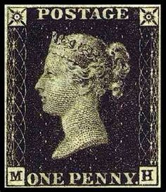 Penny Black- First Postage Stamp   British