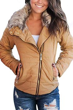 Looking for Vetinee Women Casual Faux Fur Lapel Zip Pockets Quilted Parka Jacket Puffer Coat ? Check out our picks for the Vetinee Women Casual Faux Fur Lapel Zip Pockets Quilted Parka Jacket Puffer Coat from the popular stores - all in one. Winter Jackets Women, Coats For Women, Winter Fur Coats, Parka Coat, Faux Fur Jacket, Quilted Jacket, Outerwear Jackets, Fur Jackets, Outerwear Women