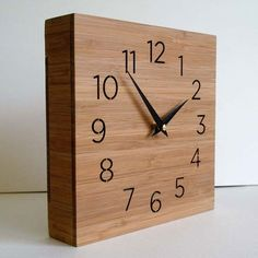 Forest Tabletop Bamboo Clock - Click to enlarge