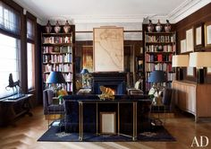 Traditional Office/Library by Paolo Moschino and Philip Vergeylen in London, England