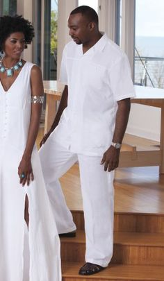 Jaden Mens Pant Set by Steve Harvey from ASHRO  | Destination Wedding with this Linen Suite - Nice