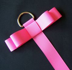 Hot Pink Grosgrain Ribbon Hair Clip Organizer - Hair Bow Hanger - Clippies - Barrettes. $4.25, via Etsy.