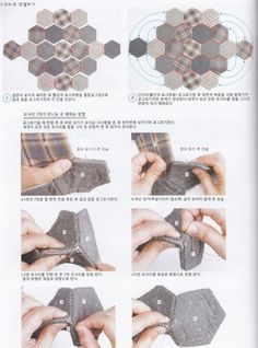 Bolso con hexagonales - pasos -3