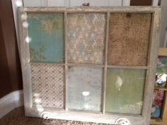 Vintage Window Wall Decor- great for window/coat hooks behind front door.