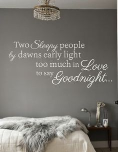 Two sleepy people by dawns early light, too much in love to say goodnight. www.gracetheday.com