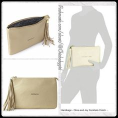 """#JUST IN[OLIVIA + JOY] COCKTAILS CLUTCH Clutch With Tags $38 Retail + Tax   As seen at 'Living on Cloud Nine'. Who wants to go out for cocktails?!  *All the room you need to carry your chin-ness *Top/Bottom length 10"""" *Depth 0.5"""" *Height 7"""" *Zipper top closure *Fringe tassel *Interior large side slip pocket   2+ BUNDLE=SAVE  ‼️NO TRADES--NO HOLDS--NO MODELING   Brand Items Authentic   ✈️ Ship Same Day--Purchase By 2PM PST    USE BLUE OFFER BUTTON TO NEGOTIATE  ✔️ Ask Questions Not Answered…"""