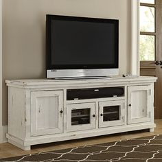 Looking for Progressive Furniture Willow Console, 74 , Distressed White ? Check out our picks for the Progressive Furniture Willow Console, 74 , Distressed White from the popular stores - all in one. White Tv Stands, Cool Tv Stands, Rustic Tv Stands, Living Room Furniture, Home Furniture, Willow Furniture, Cheap Furniture, Console Furniture, Furniture Buyers