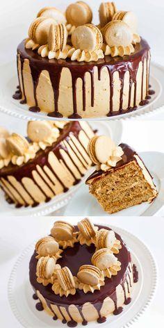 Video: http://tatyanaseverydayfood.com/coffee-caramel-cake-chocolate-ganache/