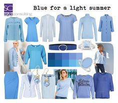 """""""Blue for a light summer. Blauwtinten voor lichte zomertypes."""" by roorda on Polyvore featuring mode, Expresso, BillyTheTree, LoveBrightJewelry, INC International Concepts en Orciani"""
