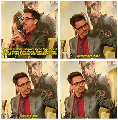 Marvel: The Avengers. ... Iron Man 3 - RDJ .. favorite scene