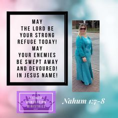 """""""The LORD is good, a strong refuge when trouble comes. He is close to those who trust in him. But he will sweep away his enemies in an overwhelming flood. He will pursue his foes into the darkness of night."""" Nahum 1:7-8 NLT #Esther #faith #prayer #RiseUp #EstherGeneration"""