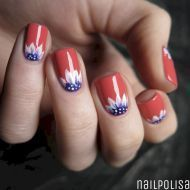 47 fantastic bright summer and fourth of july nail design ideas