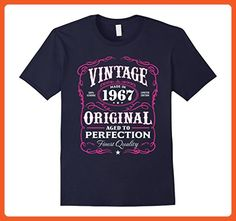 Mens Vintage Made In 1967 Birthday Gift T-Shirt Small Navy - Birthday shirts (*Partner-Link)