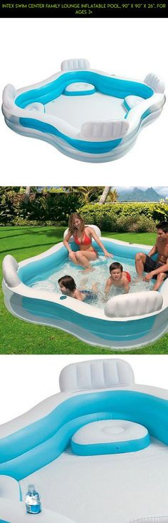 """Intex Swim Center Family Lounge Inflatable Pool, 90"""" X 90"""" X 26"""", for Ages 3+ #fpv #camera #shopping #products #pools #drone #gadgets #kit #plans #90x90 #technology #parts #racing #tech"""