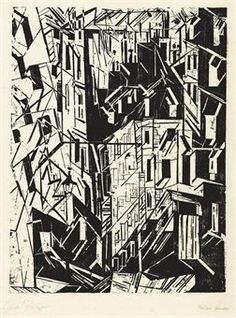 Lyonel Feininger: Street in Paris
