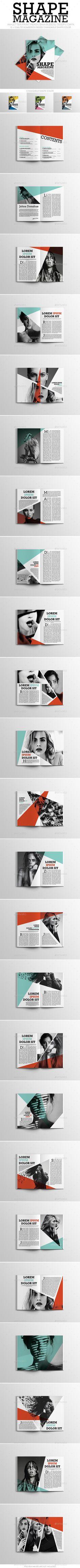 Simple Shape Magazine - Magazines Print Templates Download here: https://graphicriver.net/item/simple-shape-magazine/19978759?ref=classicdesignp