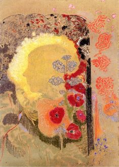 Odilon Redon - Visionary Head  c.1907