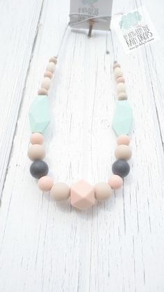 Silicone Necklace Teething Necklace/ Tula Foilage/ Nursing Silicone Teething/ Tula Accessory/ Gift For Her/ Baby Shower Gift/ New Mom Gift/