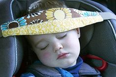 SlumberSling - Toddler Car Seat Neck Relief and Head Support (Your Choice of Pattern) Ash&Aly Babes - NEED THIS!
