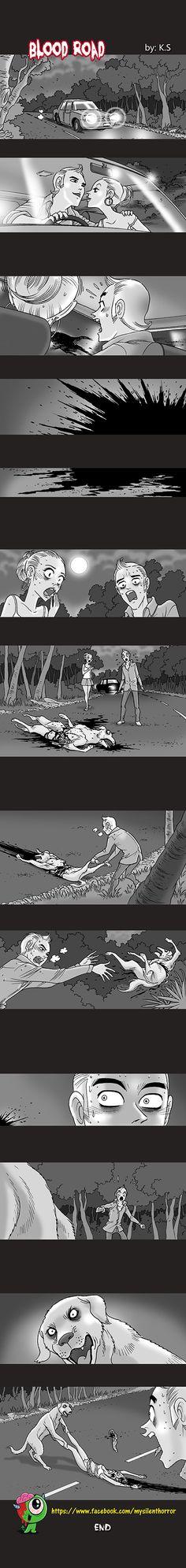 Silent Horror :: Blood Road | Tapastic Comics - image 1