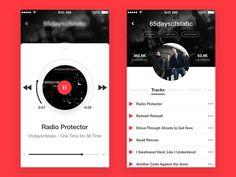 Music Player App Concept by Dmitry Karpushin