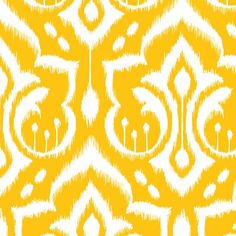 Ikat Damask - Golden Rod fabric by pattysloniger on Spoonflower - custom fabric: