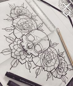 Would LOVE to tattoo this chest or upper back piece - message me if interested  #skull #roses #chestpiece #drawing #flash #tattoo #tattooapprentice #lines #linework #dotwork #boldlines #tattooflash  #handdrawn #geometry #tattoolondon #london #uk #blackandgrey #blackwork #blacktattoo #blackworker #iblackwork #btattooing #blackworkershero #blackinkfeatures #darkartists #onlyblackart #blacktattoomag #blacktattooart #uktta