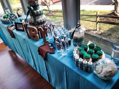 Turquoise & Brown baby Shower Baby Shower Party Ideas | Photo 9 of 39 | Catch My Party