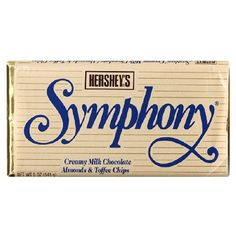 this always makes my day! ---------symphony candy bar