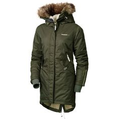 Didriksons Lindsey Ladies Parka - Dark Green - My coat! l live in this coat!