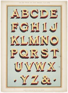 Typography sign writing lettering type alphabet colour vintage shadow traditional t Types Of Lettering, Lettering Styles, Lettering Design, Hand Lettering Alphabet, Typography Letters, Alphabet Writing, Alphabet Fonts, Writing Fonts, Painted Letters