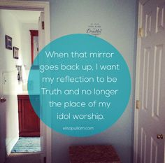 When the Mirror Falls ... and discovering that I'm joining Jennifer Dukes Lee on her Love Idol #Preapproved journey.