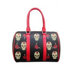 Day Of The Dead Skull Bag - Black