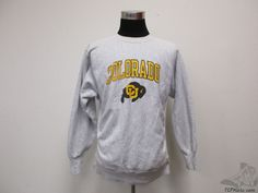 Vtg 80s 90s Champion REVERSE WEAVE Colorado Buffaloes Sweatshirt sz XL CU  #Champion #ColoradoBuffaloes #tcpkickz