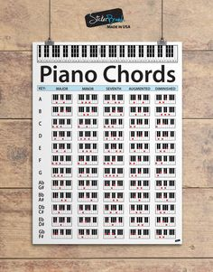 Details about Piano Chord Chart Poster. Educational Guide for keyboard music lessons Piano Chord Chart Poster. Educational Guide for keyboard music lessons Piano Songs, Piano Sheet Music, Piano Chord, Music Lessons For Kids, Guitar Lessons For Beginners, Keyboard Lessons, Music Chords, Guitar Chords, Acoustic Guitars