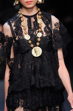 Dolce & Gabbana at Milan Spring 2014 (Details)