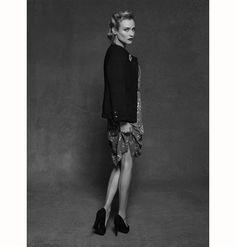 Diane Kruger, posando para Karl Lagerfeld
