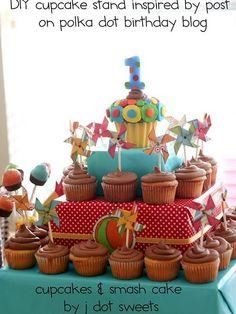 box cupcake stand