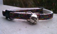 Kitty Bling - Confetti Glitter - Breakaway Adjustable Cat Collar