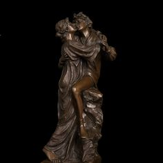 Classical Bronze Statues Lovers Kiss  figurines romantic couple kissing sculpture for wedding decoraion Valentine's day gifts #Affiliate