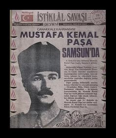 9. Ordu Müfettişliği'ne atandıktan 19 gün sonra 19 Mayıs 1919'da Bandırma gemisindeki kendisi dahil 19 kişiyle birlikte Samsun'a ayak bastı ve burada 19 gün kaldı.