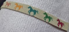 Eight Prancing Horses Woven Beads Browband by WovenBeadsBrowbands