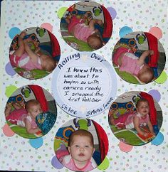 scrapbook layouts for new baby girl | Scrapbook Pages with Circles - First Roll Over