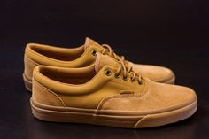#VANS VANS ERA CA SUEDE (BLK/TOBACCO BROWN) $55 #CORPORATEGOTEM